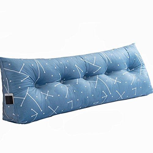 Preisvergleich Produktbild ANDEa Bedside Dreieck-Kissen, kreatives doppeltes Sofa Kissen großes Kissen weiches Kasten-Bettkissen Taillenkissen Taillen-Kissen 60 * 150cm Originality ( Farbe : A , größe : 22*50*120CM )