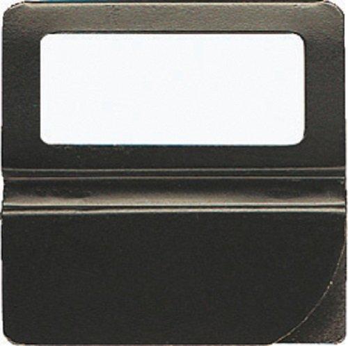 Exacompta 145101B Packung (mit 25 Kartenreitern, geeignet für Hängeregister, 25 mm breit) schwarz