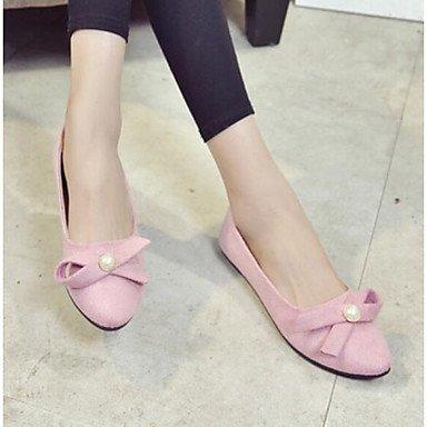 Wuyulunbi@ Scarpe donna pu molla Comfort Appartamenti tacco piatto di abbigliamento casual arrossendo rosa grigio nero US5.5 / EU36 / UK3.5 / CN35
