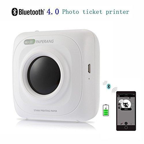 Hiistaring Mini-Bluetooth-Drucker - drahtloser Papierfotodrucker-tragbarer sofortiger mobiler Drucker für iPhone/iPad/Mac/Android-Geräte - Portable Bluetooth Foto-drucker