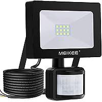 MEIKEE 10W LED Strahler mit Bewegungsmelder 1000LM superhell LED Fluter IP66 wasserdicht Flutlichtstrahler Aluminium Scheinwerfer Licht Wandleuchte für Garten Garage Sportplatz