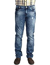 Infection Light Blue Torn Jeans Slim Fit Jeans For Men (1 Jeans)