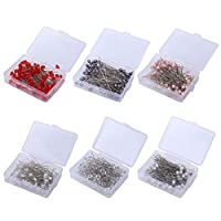 ULTNICE 600Pcs Sewing Pins Ball Pearl Head Pins Straight Quilting Pins for Dressmaker Jewelry Embroidery Cross Stitch (Mixed Style)