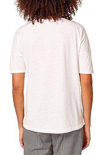 ESPRIT Damen Langarmshirt Weiß (Off White 110)