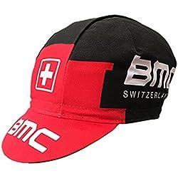 Gorra de equipo ciclista, diseño retro de estilo vintage, talla única, fabricada en Italia, Informal, color BMC, tamaño talla única