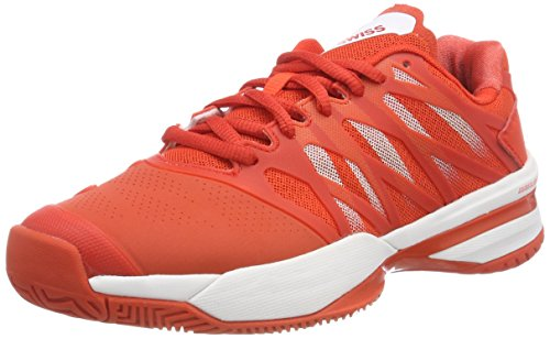K-Swiss Performance Damen ULTRASHOT Tennisschuhe, Rot (Fiesta/White 01), 37 - Damen Allcourt Tennisschuhe