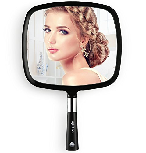 Easehold specchio a mano specchio portatile specchio per il trucco nero