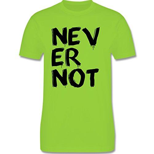 Statement Shirts - Never not - niemals nie - Herren Premium T-Shirt Hellgrün