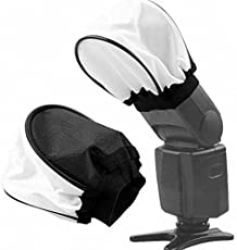 Numex Cloth Flash Bounce Diffuser Reflector Soft Light Box Elastic Nikon Canon Sony