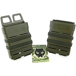 ATAIRSOFT Tactical Airsoft Eau Transfert 5.56 Fusil Double Attache Rapide Mag Magazine Poche Molle Étui Titulaire Ensemble pour M4 Green