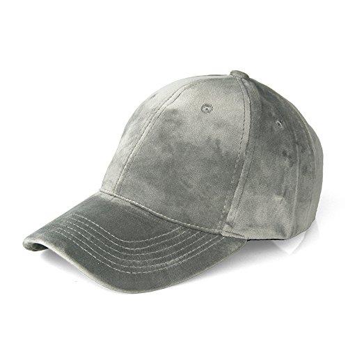 JOOWEN Unisex Soft Velvet Baseball Cap 6 Panels Solid Adjustable Sports Hat
