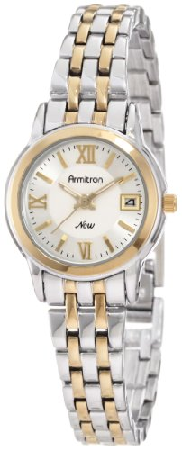 Armitron Women's 75/4090SVTT Round Two-Tone Bracelet Day Date Function Watch
