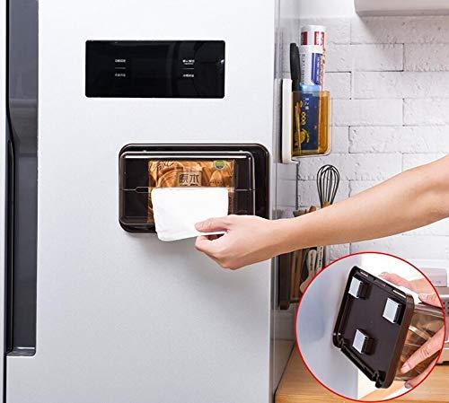 WOSBE Papierhalter Papierrollenhalter Kühlschrank Lagerregal Magnet Schmutz Rack Eisen Aufbewahrungsbox Küche freie Punsch Haushaltspapier Handtuchhalter