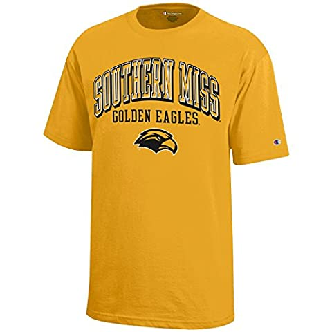 NCAA Southern Mississippi Golden Eagles Youth Boys Champion Short sleeve Jersey T-Shirt, X-Large,