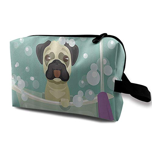 Travel Hanging Cosmetic Bags Shower Pug Multi-Functional Toiletry Makeup Organizer