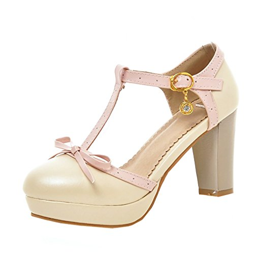 Prophecy Damen Schuhe Pumps High Heels Leder Beige Rosa