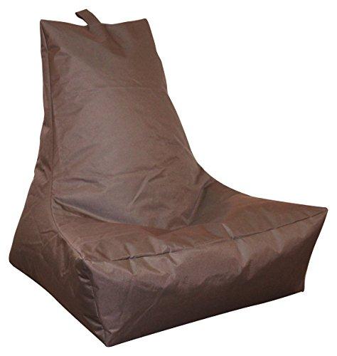 Mesana XXL Lounge-Sessel, ca. 100x90x80 cm, Sitzsack für Outdoor & Indoor, wasserabweisend, viele verschiedene Farben, dunkelbraun