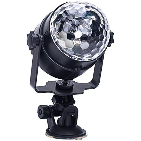 MHtech Mini Luce Della Fase Del LED, LED Luce di Scena Porta USB, Luci da Palco Cristallo Rotante Sfera LED RGB Effetto per Bar, KTV, Club, Palcoscenico, Sala da ballo, Festa, Discoteca DJ