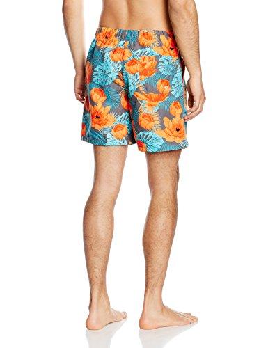 Miami Beach Swimwear Flower, Short Homme Bleu (dark navy 604)