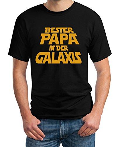 Bester Papa in der Galaxis - Galaktisch gutes Geschenk für Vatertag T-Shirt Schwarz