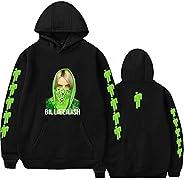 XXS-4XL Billie Eilish Hoodie Famous Singer Double Sided Printed Long Sleeve Inside Fleece Casual Pullover Hood