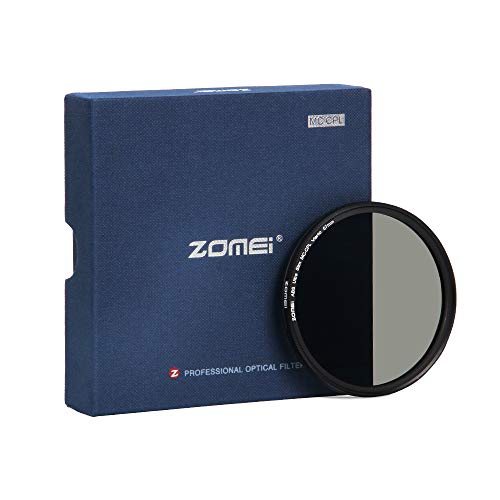 ZOMEi CPL Zirkular-Polfilter Polarisationsfilter Optisches Glas & Aluminium Für Canon Sony Nikon Fujifilm Pentax Tamron Sigma Leica Olympus Panasonic (67mm)