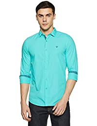 Allen Solly Men's Plain Slim Fit Casual Shirt