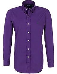 Ralph Lauren camisa para hombre de piel color morado