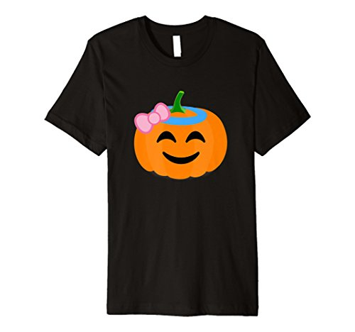 Kürbis Girl Shirt Angel Halo Emoji-Halloween-Kostüm Tee (Black Halo Kostüm)