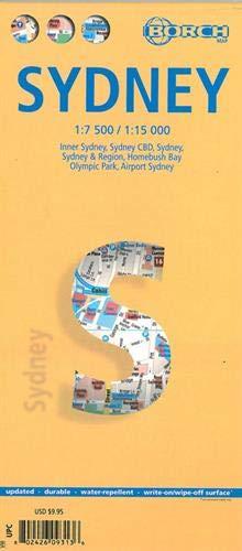 Sydney, Borch Map: Sydney, Inner Sydney, Sydney CBD, Sydney & Region, Homebush Bay, Olympic Park, Airport Sydney