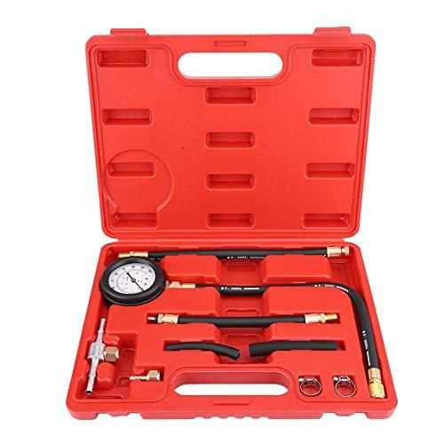 Benzin-Kraftstoffpumpe Werkzeug, Benzin Diesel Kraftstoff Manometer Tester Einspritzpumpe Diagnosewerkzeug mit Blasgeformtes Gehäuse