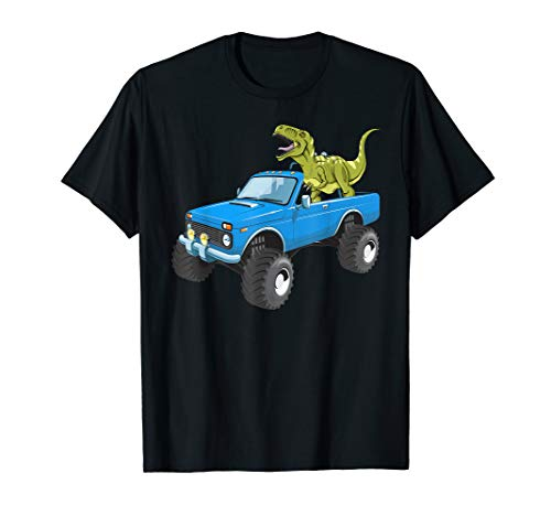T-rex Dinosaur Drive a Monster Truck -T-rex Birthday Son T-Shirt