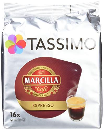 Tassimo Marcilla - Café Espresso, 1 Pack De 16 T-Discs