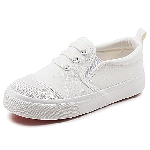 Mixte Sneakers Chaussures Garçon Filles Enfants Baskets mode (28 EU-Longueur intérieure 17CM, blanc)