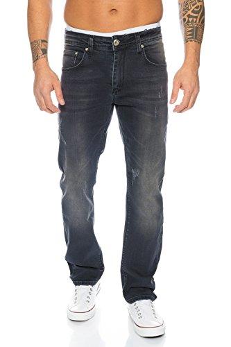 Rock Creek Herren Jeans Schwarz LL-399 [W42 L36]