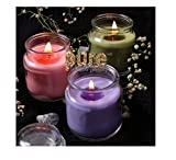 Pure Source India 3 Oz Glass Jar Candles, Pack of 3