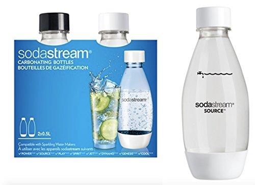 Bilder, SodaStream-Flaschen in PET-1/2LT. (2x 0,5lt.)-Kompatibel mit allen Wassersprudler Sodastream außer die Linie Glas