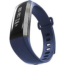 """Leotec Fitness Health - Smartband de 0.86"""" con Bluetooth, color azul"""