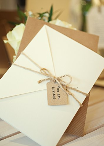 Claire-Rustic-Ivory-pocket-wedding-invitation-SAMPLE-with-two-inserts-finished-with-twine-and-tag