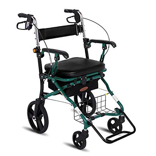 ZZYYZZ Faltbarer Rollator, Faltbare 4 Räder Old Man Einkaufswagen Einkaufswagen