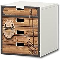 Preisvergleich für Stikkipix Pferdewelt Möbelsticker/Aufkleber - S4K23 - passend für die Kinderzimmer Kommode mit 4 Fächern/Schubladen STUVA von IKEA - Bestehend aus 4 passgenauen Möbelfolien (Möbel Nicht inklusive)