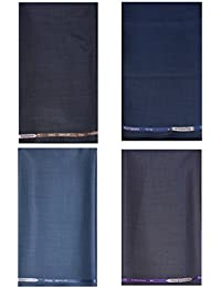 Kundan Sulz Gwalior Men's Executive 4 ( Four ) Fancy Formal Trouser Fabric Combo Set ( 4 Pant Piece For Men )