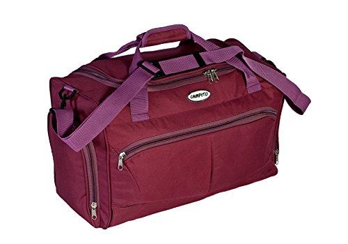 Kleine kompakte Reisetasche Sporttasche aus Polyester, ideal als Handgepäck (Polyester-handgepäck)