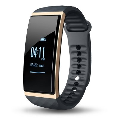 Cubot S1 Smart Armband Uhr mit Herzfrequenz Monitor, Bluetooth 4.0 Wasserdicht Sports Fitness Tracker Schlaf Monitor Schrittzähler Smart Watch für iOS & Android, Herren(Gold)