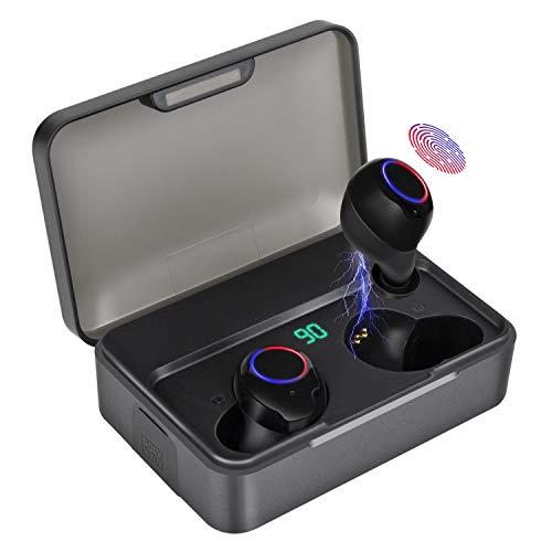 2019 Neueste Bluetooth Kopfhörer Kabellos In Ear, SYLLABLE Sports Wireless Ohrhörer mit Portable Ladebox 3000 mAh,135 Stunden Spielzeit, IPX7 Wasserdicht, Für alle Bluetooth-Geräte