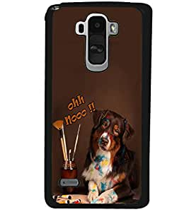 Fuson Premium Ohh No Metal Printed with Hard Plastic Back Case Cover for LG G4 Stylus