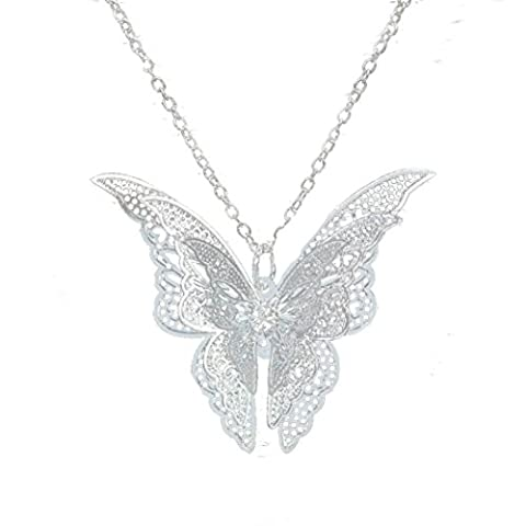 LHWY Women's Elegant Fashion Lovely Butterfly Pendant Chain Necklace Jewelry