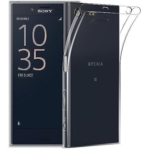 Sony Xperia X Compact Custodia, Qosea Ultra Sottile Cristallo Trasparente Anti Scivolo Case Copertura Protezione Anti-urto per Sony Xperia X Compact Smartphone - Precisione Compact