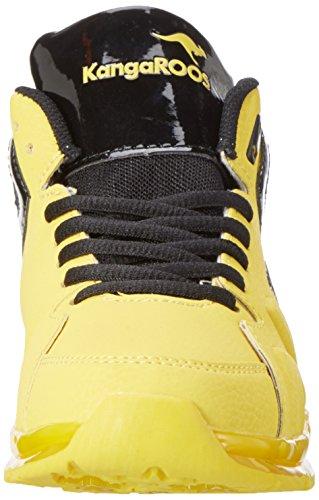 KangaROOS K-lev Vi Hi, Sneakers basses mixte adulte Mehrfarbig (Yellow/black)