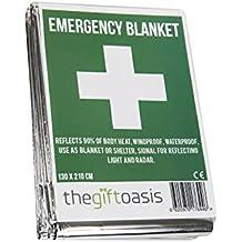 Multi Purpose Heat Survival Foil Blanket Baby Sensory (4 Pack)